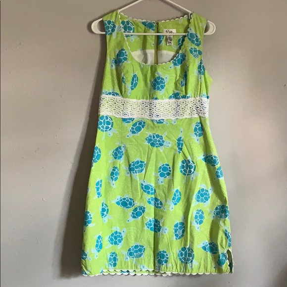 Lilly Pulitzer Dresses & Skirts - VINTAGE Lilly Pulitzer Turtle Dress - size 10